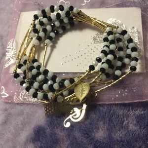 Jewelry - Artesanal Crystal Bracelet(7) w/18kt plated charms